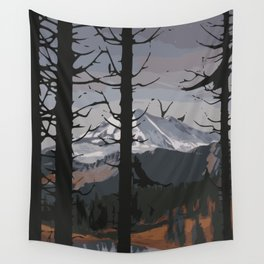 Rocky mountain Wall Tapestry
