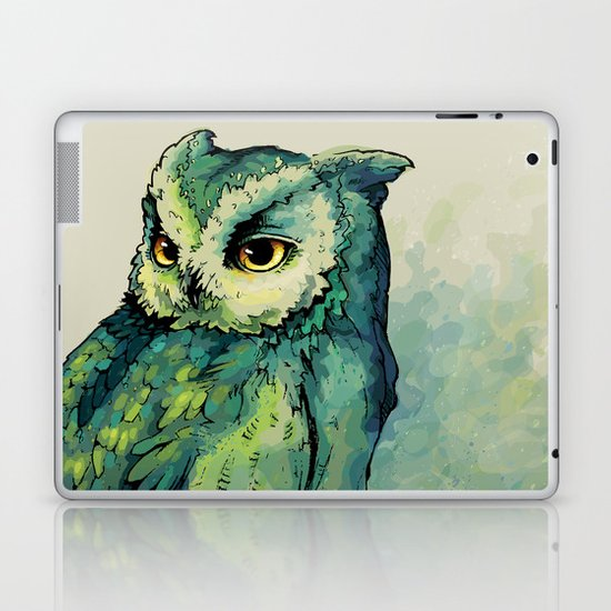 Green Owl Laptop & iPad Skin