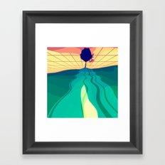 Over the Horizon Framed Art Print