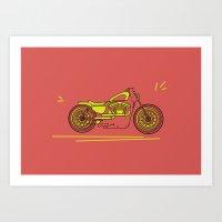 bike Art Prints featuring Bike by Daniella Gallistl