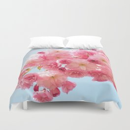 Cherry Blossoms in Pink Duvet Cover