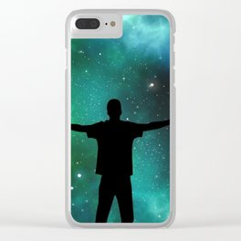 Universe Man Clear iPhone Case