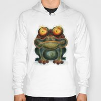 frog Hoodies featuring Frog by Riccardo Pertici