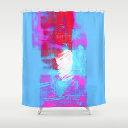 abstract blue pink Shower Curtain