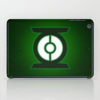green lantern iPad Cases featuring Green Lantern by Some_Designs