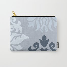 Ornate Damask Art I – Blues (A) Carry-All Pouch