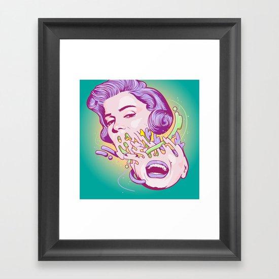 Happily melting Marilyn Framed Art Print