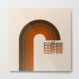 Cocoa Coffee Rainbow Metal Print