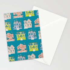 Victorian Homes Pattern Stationery Cards
