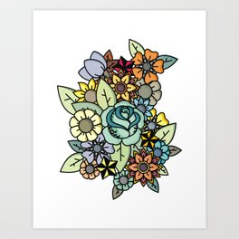 Alot Flowers Art Print