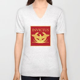 Invictus Eagle on Red Unisex V-Neck