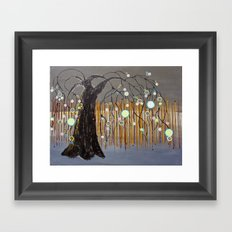 :: Willow Sunset ::  by Gale Storm Framed Art Print