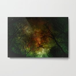 When stars fell of Midnight Forrest Fx  Metal Print