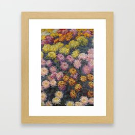 Claude Monet - Bed Of Chrysanthemums Framed Art Print