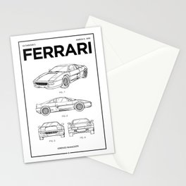 Sports Car Wall Art • Vintage Car Patent • Car Enthusiast Gift • Billionaire Gift Ideas Stationery Cards