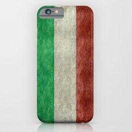 Italian flag, vintage retro style iPhone Case
