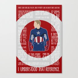 The First Avenger Canvas Print