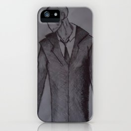 Man without a face. iPhone Case