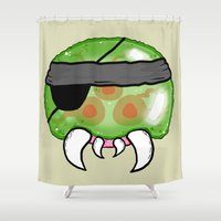metal gear solid Shower Curtains featuring Metroid Gear Solid by Mega8