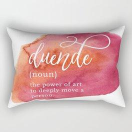 Duende Word Nerd Definition - Pink Watercolor Rectangular Pillow