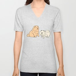 Chow Chow Dog Couple Unisex V-Neck