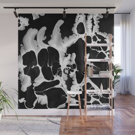 Black And White Wet Paint Modern Pattern Photography Wall Mural