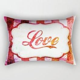 Love Grungy Spripes Rectangular Pillow