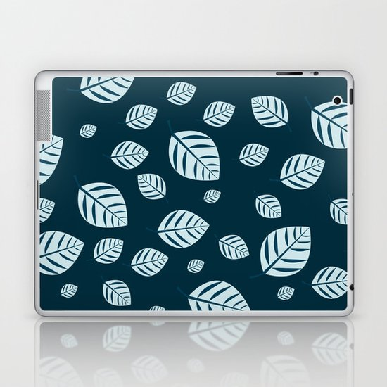 blue leafs Laptop & iPad Skin