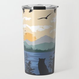 Mountain Lion Wilderness Travel Mug