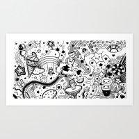 Kawaii Doodles Art Print