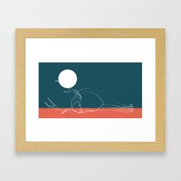 deer sky pt.1 Framed Art Print
