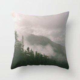 Foggy Forest (Squamish, British Columbia, Canada) Throw Pillow
