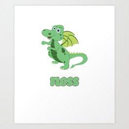 Floss Dance Move Dragon Art Print