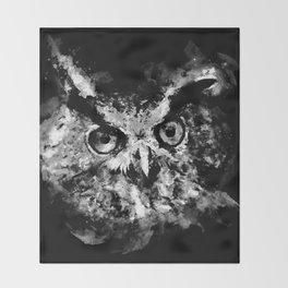 owl perfect black white Throw Blanket