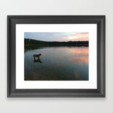 silver lake reflection Framed Art Print