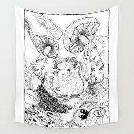 Hamster In Wonderland Wall Tapestry