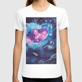 Tiny Astronaut and the Blue Nebula T-shirt