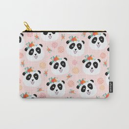 Panda bear with flowers seamless pattern Carry-All Pouch