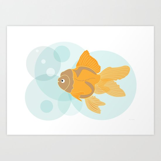 Golden Fish Art Print