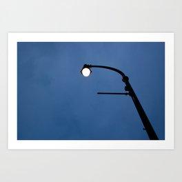 Streetlamp at twilight Art Print