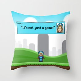 It's not just a Game! [Female Version 1] Throw Pillow