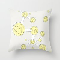 soccer Throw Pillows featuring Soccer DNA by HenryWine