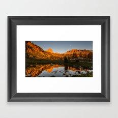 Alaska Basin Sunset Framed Art Print