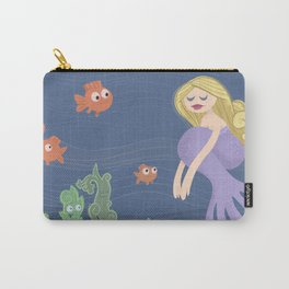 Girl in the Sea Carry-All Pouch