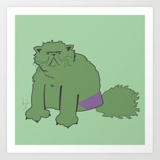 The Incatable Hulk Art Print
