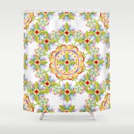 Starflower Blossoms Shower Curtain