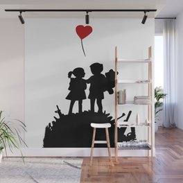 banksy peace after war Wall Mural