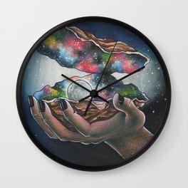 Oyster Pearl Moon Wall Clock