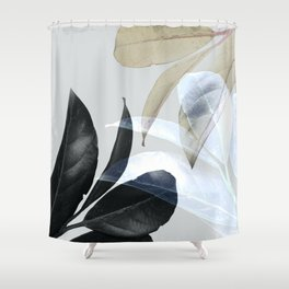 Moody Leaves II Shower Curtain