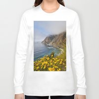 big sur Long Sleeve T-shirts featuring Big Sur in Bloom, California 1 by gypsysoulshots